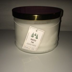 Other - Frosted pine 3 wick scented candle.